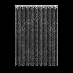 Red white japanese kimono pattern window curtain 52 x 72 for 12 x 72 window