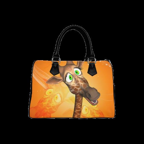 Funny giraffe Boston Handbag (Model 1621)