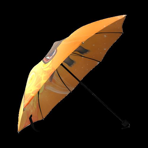 Funny giraffe Foldable Umbrella (Model U01)