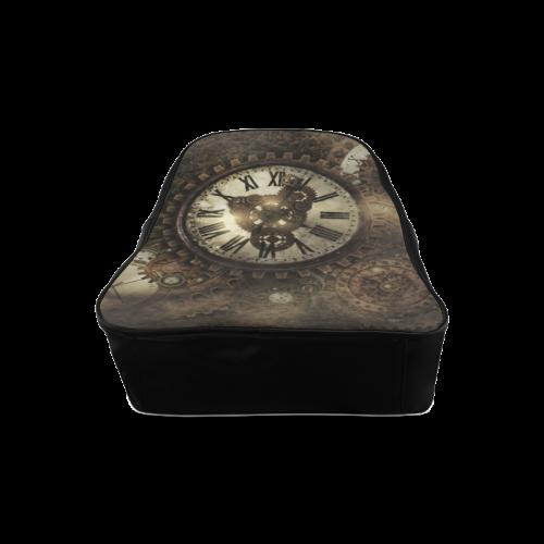 Vintage Steampunk Clocks School Backpack/Large (Model 1601)