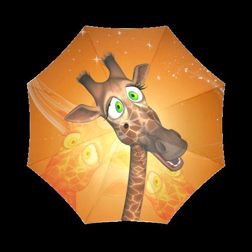 Funny giraffe Foldable Umbrella