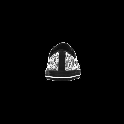 toon skulls Aquila Microfiber Leather Women's Shoes (Model 028)