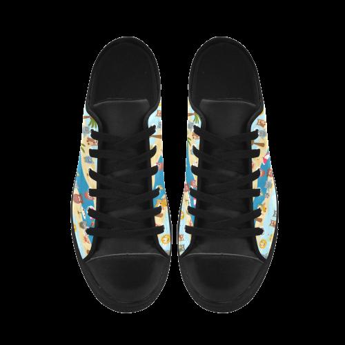 summer owls Aquila Microfiber Leather Women's Shoes (Model 028)