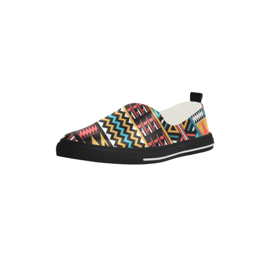 aztec pattern Apus Slip-on Microfiber Women's Shoes (Model 021)