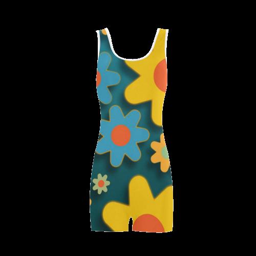 Floral20151009 Classic One Piece Swimwear (Model S03)