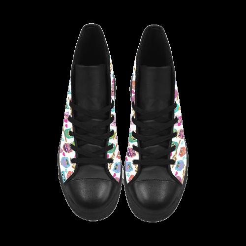happy-owls Aquila High Top Microfiber Leather Women's Shoes (Model 027)