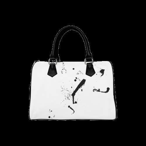 Paint splatters black VAS2 Boston Handbag (Model 1621)
