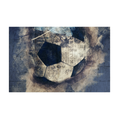 """Abstract Blue Grunge Soccer Poster 22""""x34"""""""