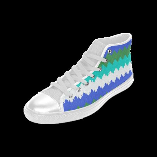 modern chevron pattern 3 Men's Classic High Top Canvas Shoes (Model 017)