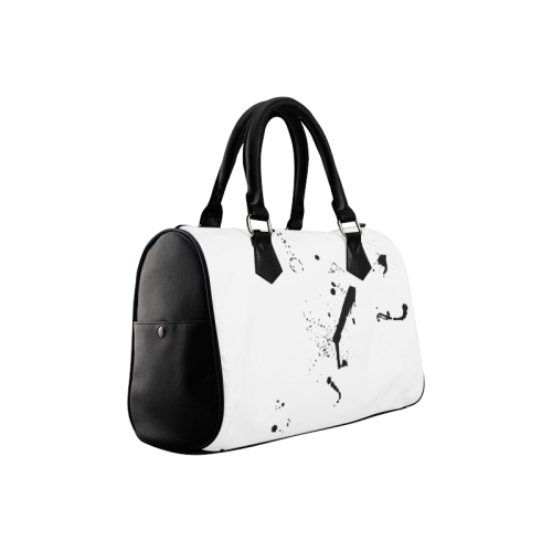 Paint splatters black VAS2 Boston Handbag (Model 1621)