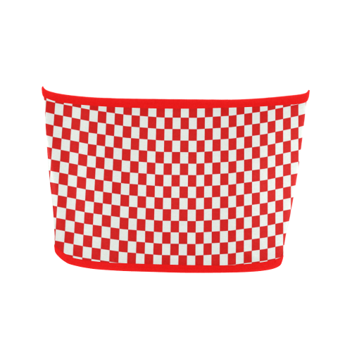Bright Red Gingham Bandeau Top
