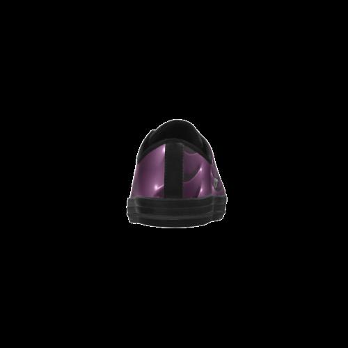 Digital Art Glossy Plum Purple Fractal Spiral Aquila Microfiber Leather Women's Shoes (Model 028)