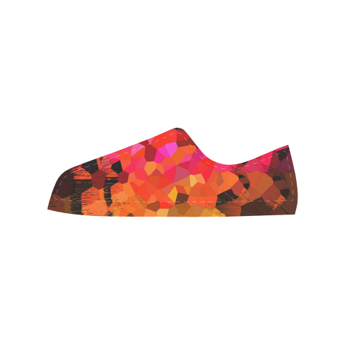 Fractures Aquila Microfiber Leather Men's Shoes (Model 028)