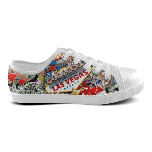 Las Vegas Icons - Gamblers Delight Canvas Kid's Shoes (Model 016)