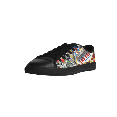 Las Vegas Icons - Gamblers Delight Aquila Microfiber Leather Women's Shoes (Model 028)