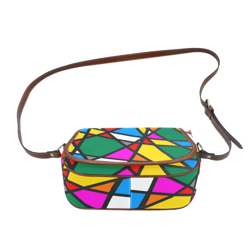 Pattern Mirror by Nico Bielow Saddle Bag/Small (Model 1649) Full Customization