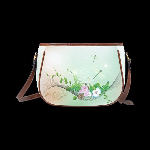 Flower power Saddle Bag/Small (Model 1649) Full Customization
