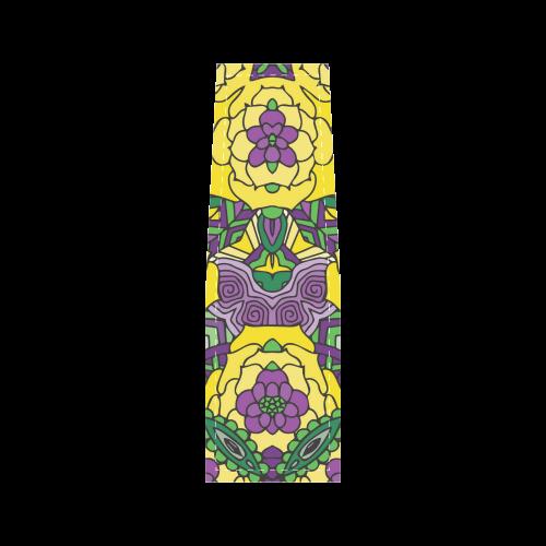 Mariager, Mardi Gras yellow purple green Saddle Bag/Large (Model 1649)