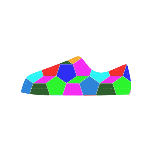friendly summer pattern 03 Aquila Microfiber Leather Men's Shoes (Model 028)