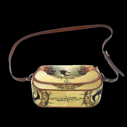 Cute little dragon Saddle Bag/Small (Model 1649) Full Customization