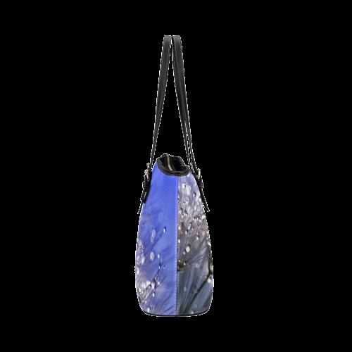 Dandelion_2015_0733 Leather Tote Bag/Small (Model 1651)