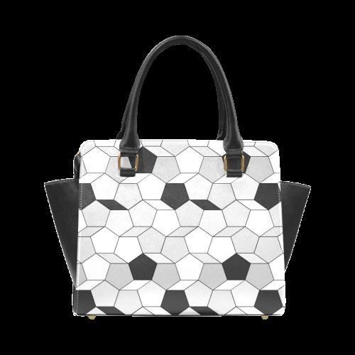 friendly summer pattern 07 Rivet Shoulder Handbag (Model 1645)