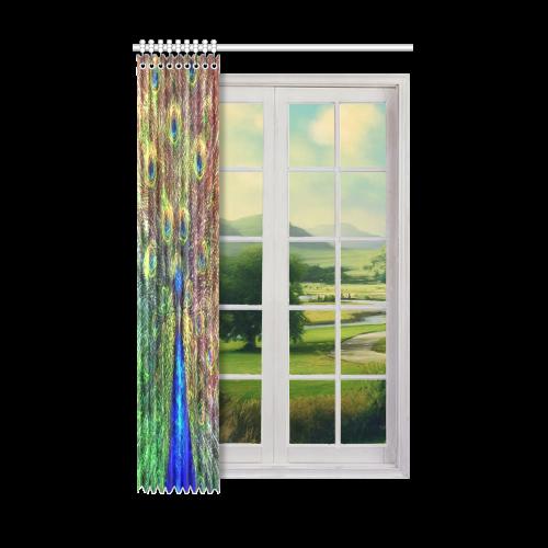 "peacock Window Curtain 52"" x 84""(One Piece)"