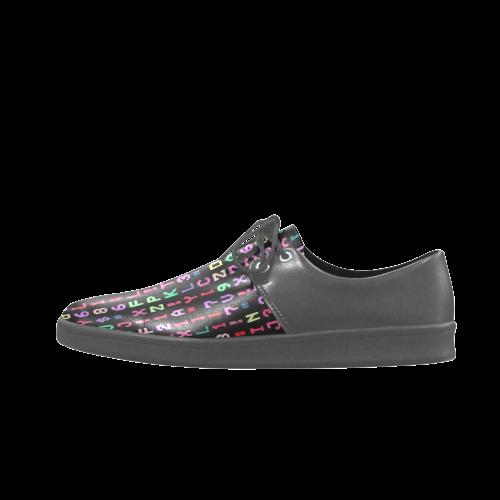 funny allover matrix 2 Brogue Lace Up Men's shoes (Model 024)
