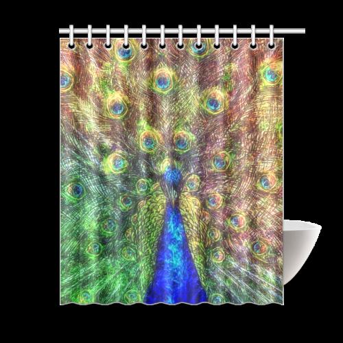 Peacock Shower Curtain 60x72