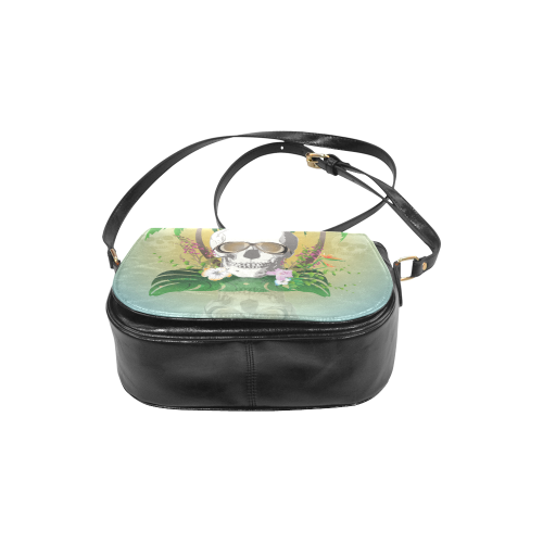 Funny skull with sunglasses Classic Saddle Bag/Large (Model 1648)