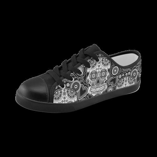 sugar skull Canvas Kid's Shoes (Model 016)