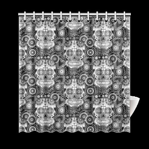 """sugar skull Shower Curtain 69""""x72"""""""