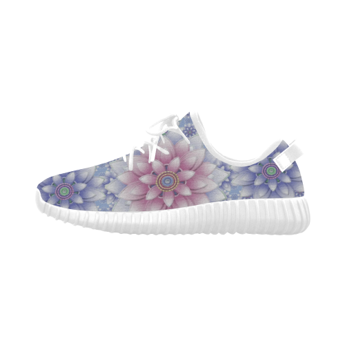 ornaments pink+blue Grus Women's Breathable Woven Running Shoes (Model 022)