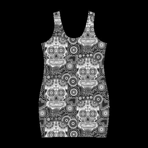 sugar skull Medea Vest Dress (Model D06)