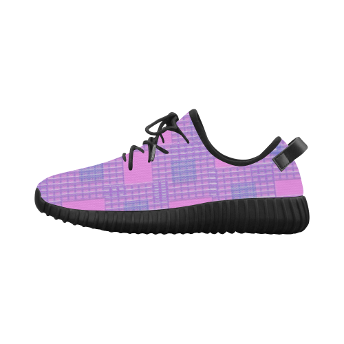 Pink Plastic Optic Grus Women's Breathable Woven Running Shoes (Model 022)
