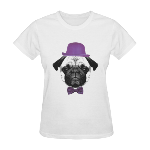 Mops Puppy Sunny Women's T-shirt (Model T05)
