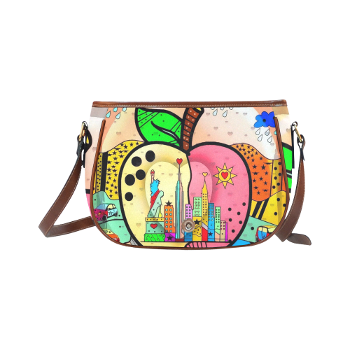 Big APPLE by Nico Bielow Saddle Bag/Large (Model 1649)