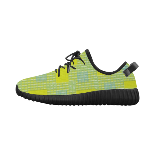 Limette Plastic Optic Grus Women's Breathable Woven Running Shoes (Model 022)