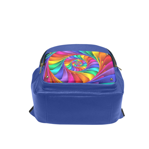 Psychedelic Rainbow Spiral Campus backpack/Small (Model 1650)