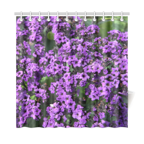 purple flowers shower curtain 72 x72 id d261416