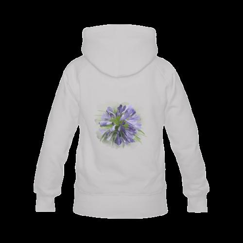Purple Flowers Women's Classic Hoodies (Model H07)