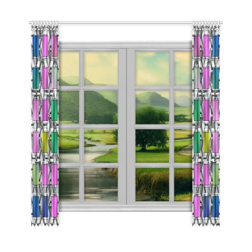 "Square Nr1 Window Curtain 50""x108""(Two Piece)"