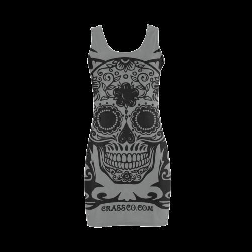 Skull Flowers Stone Medea Vest Dress (Model D06)