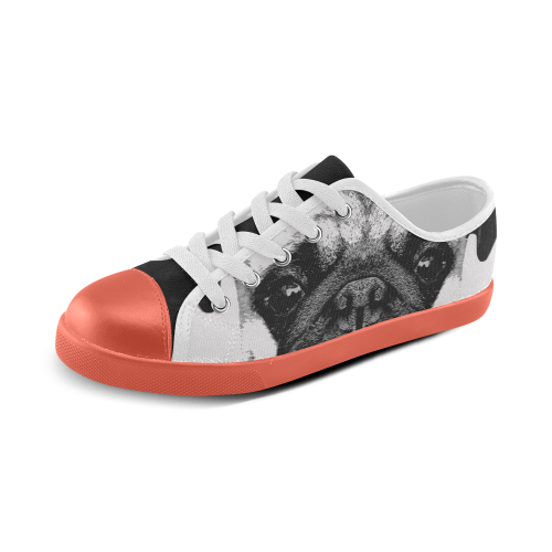 Dog Puppy orange Canvas Kid's Shoes (Model 016)