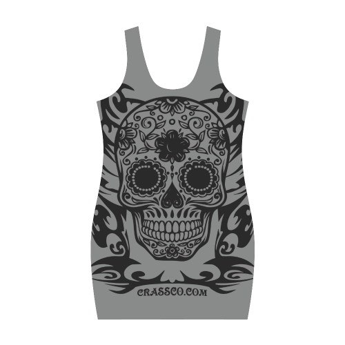Skull Flowers Stone Medea Vest Dress (Model D06)