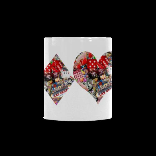Las Vegas Playing Card Shapes White Mug(11OZ)