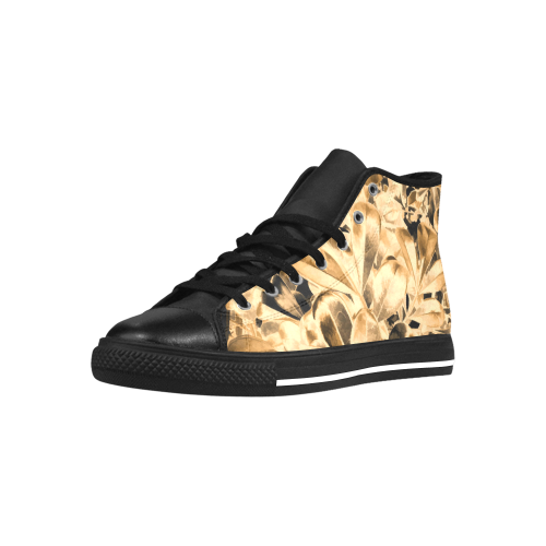 Foliage #2 Gold - Jera Nour Aquila High Top Microfiber Leather Women's Shoes (Model 027)