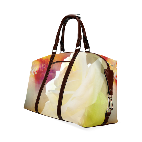 A Rose White Classic Travel Bag (Model 1643)
