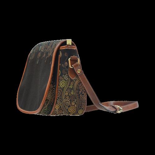 Psychedelic, Sand Clock Saddle Bag/Large (Model 1649)