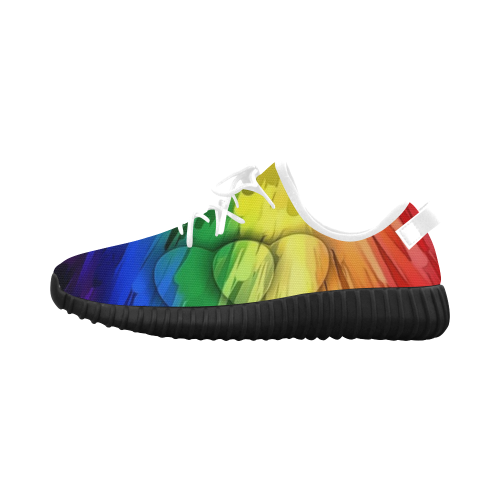 Pride Colors by Nico Bielow Grus Women's Breathable Woven Running Shoes (Model 022)